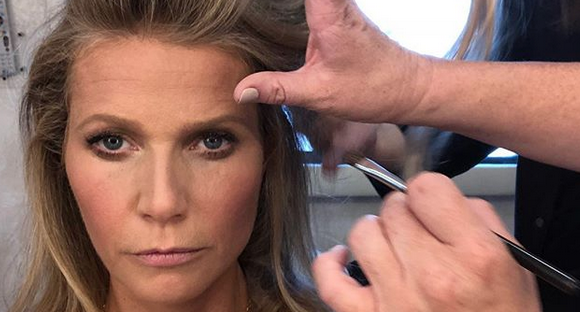 Gwyneth Posts a Selfie Mid-Glam, We Take Note