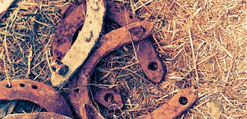 Four Early Roman Horseshoes Dug Up In England