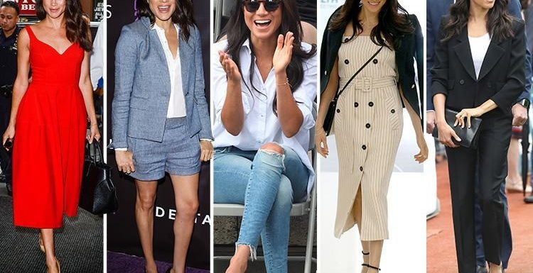 Here's 37 of Meghan Markle's best fashion moments ahead of her birthday, including THAT Givenchy powersuit