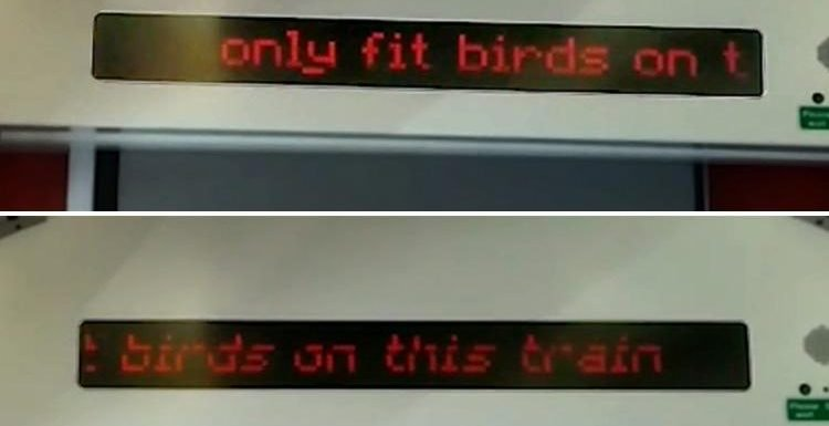 Cross Country trains accused of sexism after rude remark appears on screen