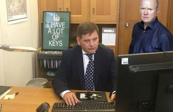 Tory MP trolled with hilarious photoshops after posting bizarre tweet of himself sat at a desk to show he's working hard'