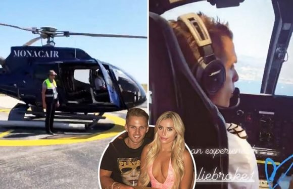 Love Island millionaire Charlie Brake splashes the cash as he treats Ellie Brown to Monaco trip by private helicopter