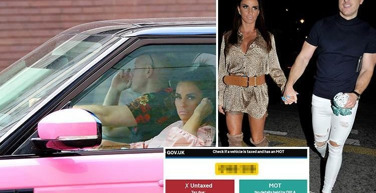 Katie Price let her boyfriend Kris Boyson drive her car with no tax just days after she was pictured behind the wheel while banned
