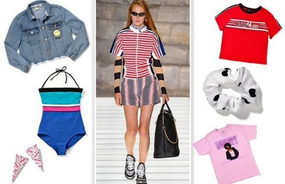 From Whitney t-shirts to spotty scrunchies, throw it back with these nostalgic summer pieces
