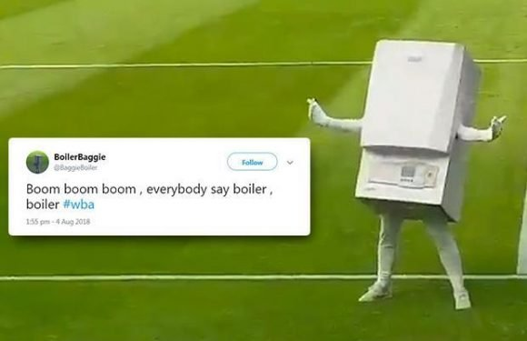 West Brom's new mascot is a 'combi-boiler' and fans cannot stop laughing