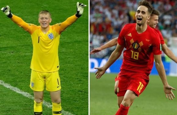 Jordan Pickford takes a cheeky swipe at Adnan Januzaj after being mocked by Belgium during the World Cup
