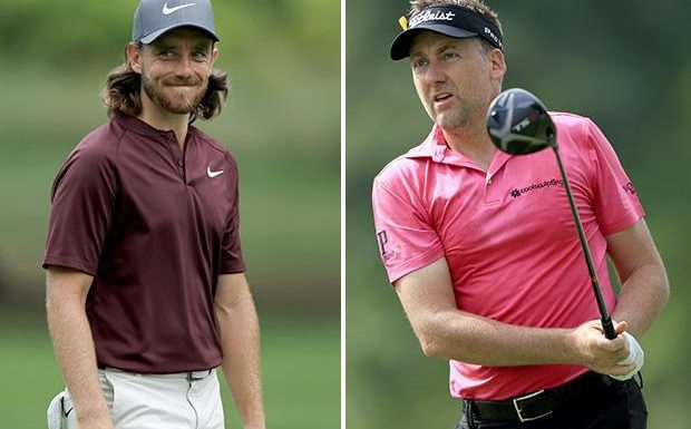 Tommy Fleetwood and Ian Poulter share clubhouse lead at WGC Bridgestone Invitational