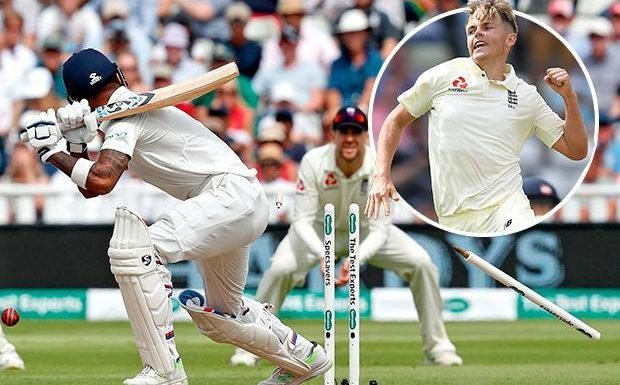 England star Sam Curran obliterates India's top order with three quick wickets on day two of the First Test… and Twitter is loving it