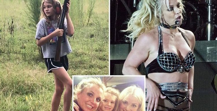 Fury as Britney Spears' niece, 10, is pictured with a SHOTGUN a year after quad bike crash nearly killer her