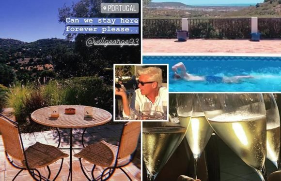 Inside Phillip Schofield's luxury summer getaway as he swaps This Morning for Portuguese sunshine, steak dinners and champagne
