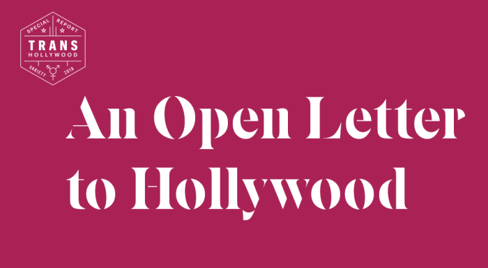 In Open Letter, Hollywood Companies Pledge to Improve Transgender Representation