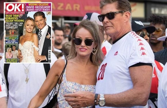 David Hasselhoff's new wife Hayley says she doesn't notice their 27 year age gap as first look at their wedding is revealed