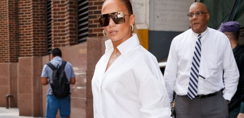"Jennifer Lopez Said ""Screw Pants!"" and Wore These Denim Boots Instead"