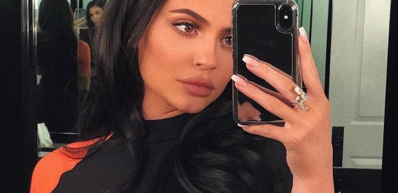 Kylie Jenner's Dress Is So Gosh Darn Tight, It Was Practically Painted on Her Body