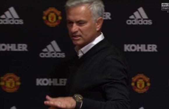 Everything Jose Mourinho said before storming out of United press conference