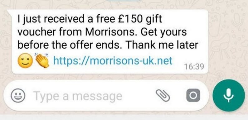 Morrisons and Sainsbury's customers warned over new WhatsApp scam
