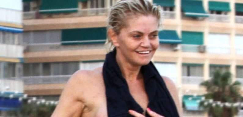 Danniella Westbrook goes topless on Spanish beach holiday