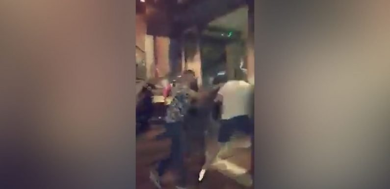 Chaos in Nandos as Billy Joe Saunders throws chicken at Deontay Wilder