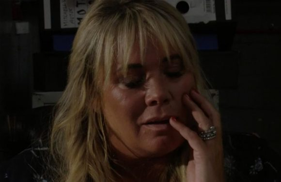 EastEnders fans in hysterics at Sharon's reaction as Keanu kisses her