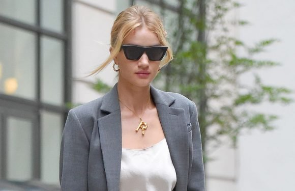 Rosie Huntington-Whiteley has just made alphabet necklaces cool again