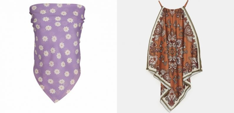 Silk Scarf Tops Are Back & They're Almost Better Than The Early 2000s Originals