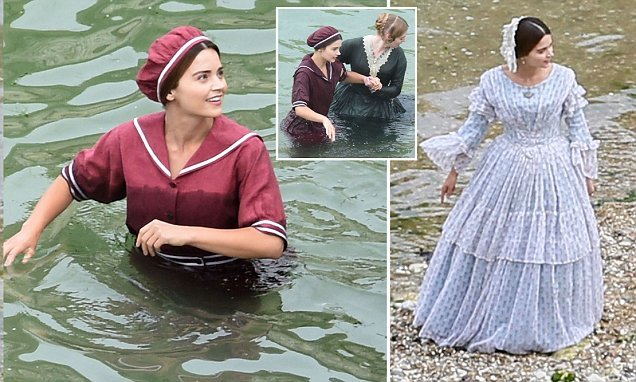 Jenna Coleman films third series of Victoria on Yorkshire beach