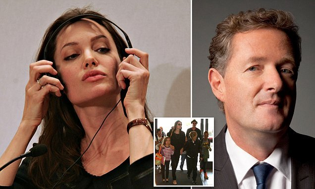 PIERS MORGAN-You'd think selfish, grasping Angelina would have learned
