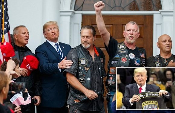 Trump hangs out with 180 bikers at his Bedminster golf club