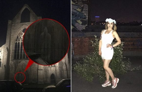 Teenager spots a 'ghostly figure' in abbey photograph taken at night
