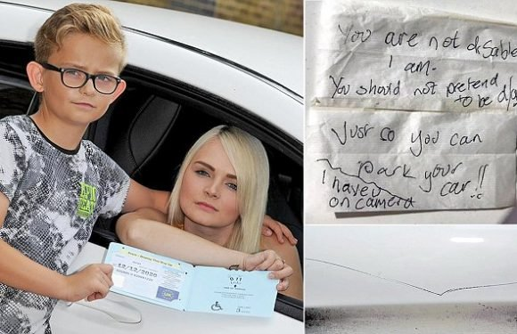 Mother shocked after being accused of pretending to be disabled