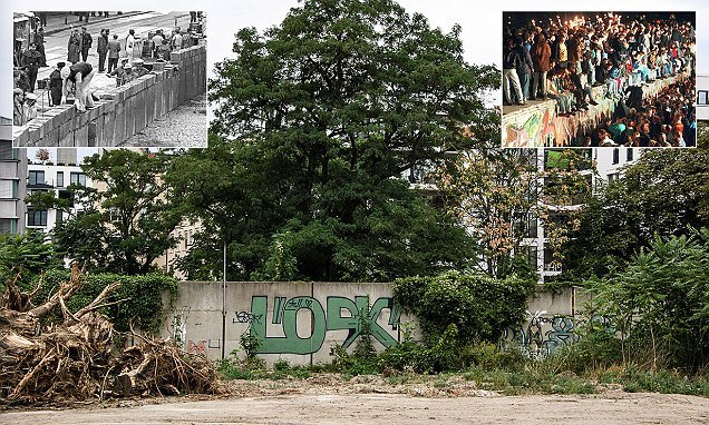 New 66-foot 'outer' section of the Berlin Wall is discovered in a park