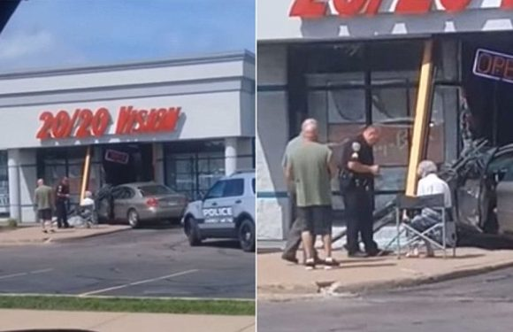 Elderly woman crashes car into eye care center in Wisconsin