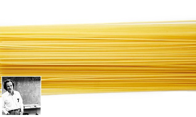 Scientists have worked out how to break spaghetti into just TWO pieces