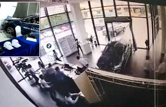 Test drive gone wrong: Woman crashes brand new BMW into dealership