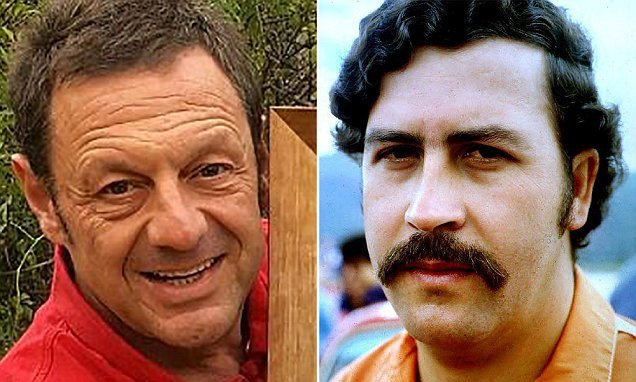 British artist claims his REAL father was drug lord Pablo Escobar