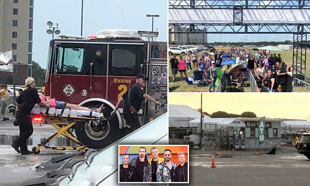 At least 14 people injured after storm at Backstreet Boys concert