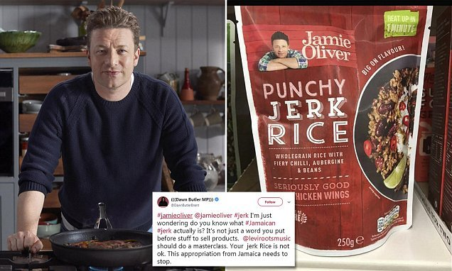 Jamie Oliver is accused of 'cultural appropriation' by Labour MP