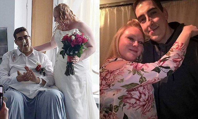 Bride marries her soulmate but he dies of cancer just 13 hours later