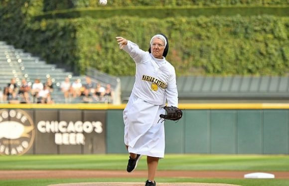 Nun throws perfect first pitch at White Sox-Royals game