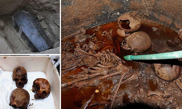 Secrets of the mysterious black granite sarcophagus finally REVEALED