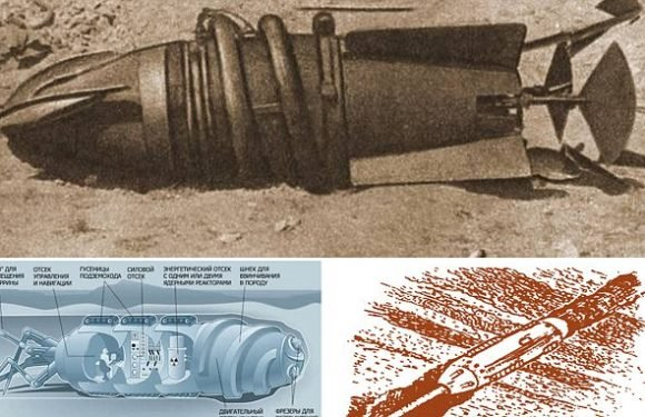 Did Russia build a nuclear-powered land submarine during the Cold War?