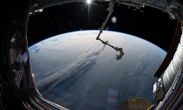 ISS astronaut captures stunning image of Earth blanketed in clouds