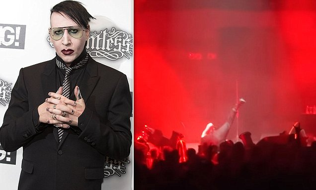 Marilyn Manson collapses from 'heat poisoning' during Houston concert