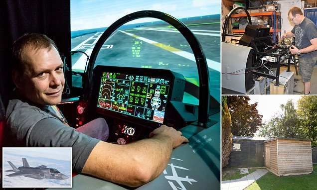 Grandfather spends £30k building world's first F-35 flight simulator