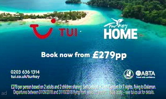 TUI is censured for promoting 'summer' holidays available in October