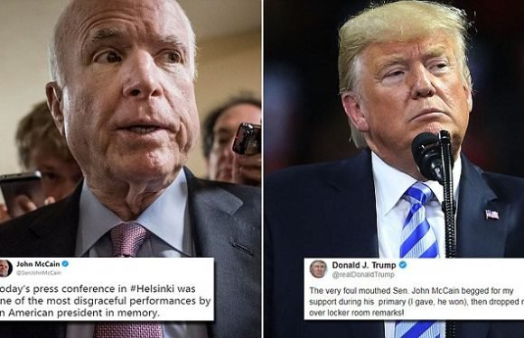 Trump won't be at John McCain's funeral after bitter war-of-words