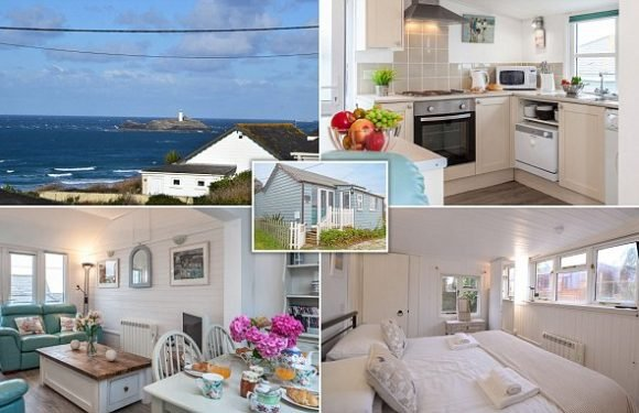 Modernised seaside chalet just yards from Cornwall's longest beach