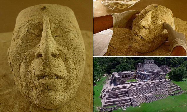Archaeologists unearth rare 7th century mask of Mayan ruler