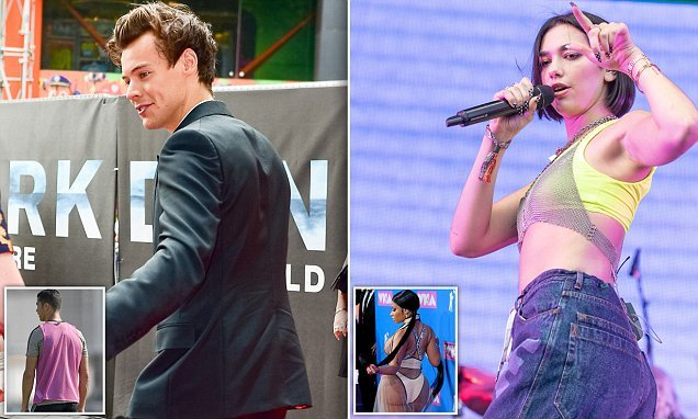 Harry Styles and Dua Lipa are crowned Mr and Miss Celebrity Bumbum