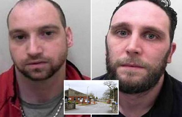 Two rapists go on the run are forcing prison door